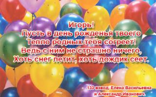 Красивые смс поздравления с днем рождения игорю
