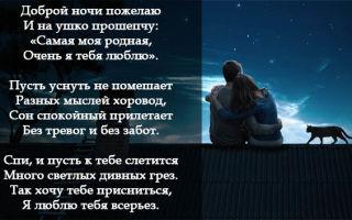 Красивые смс пожелания спокойной ночи любимой девушке, женщине в прозе