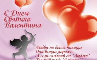 Короткие поздравления с днем святого валентина любимой девушке