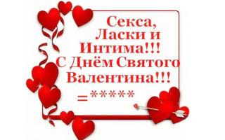 Смешные и веселые поздравления с днем святого валентина