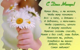 Красивые стихи на день матери маме
