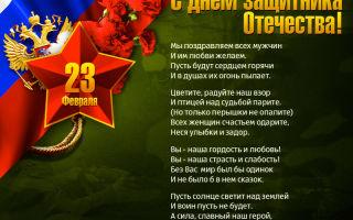 Красивые стихи на день защитника отечества